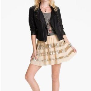 Free People sequined skirt